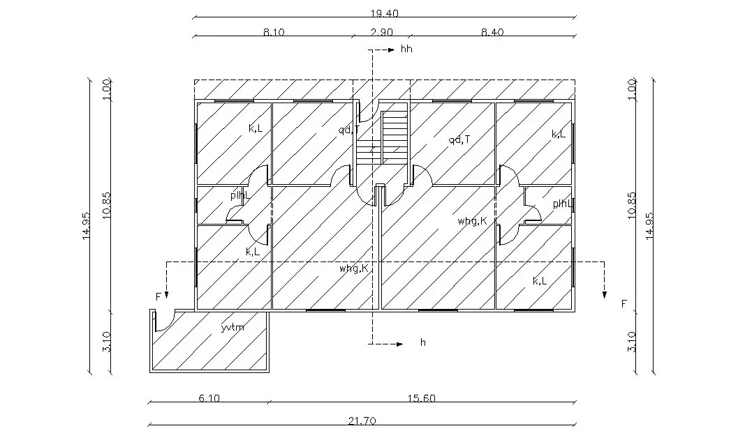 Two Units Cluster Of Residential Building Design DWG File