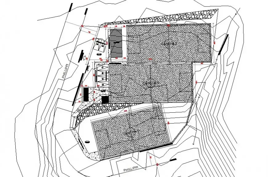 Area detail plan 2d view CAD block layout file in autocad
