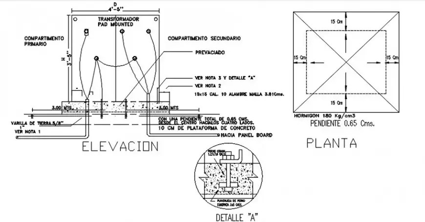 Base electric transformer diagram and installation drawing