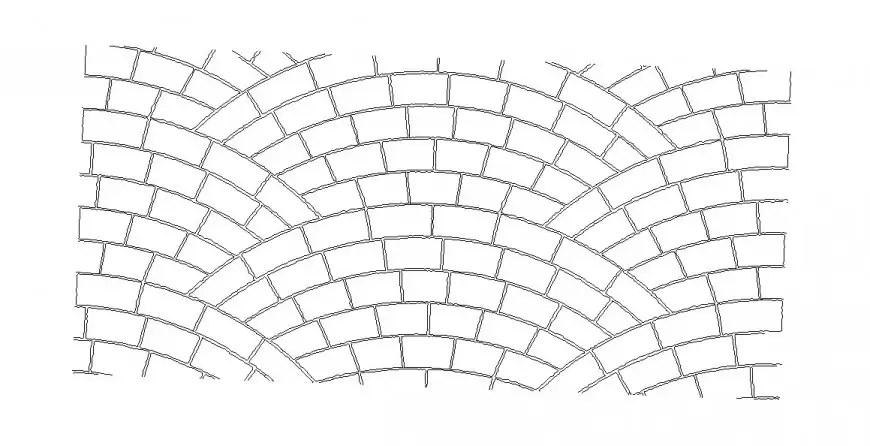 Brick wall elevation 3d model cad drawing details dwg file