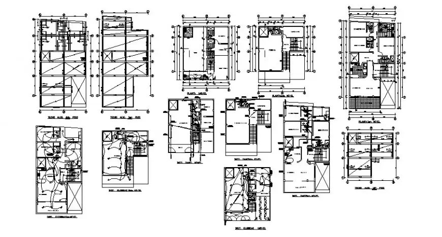 Building apartment details work plan and electrical