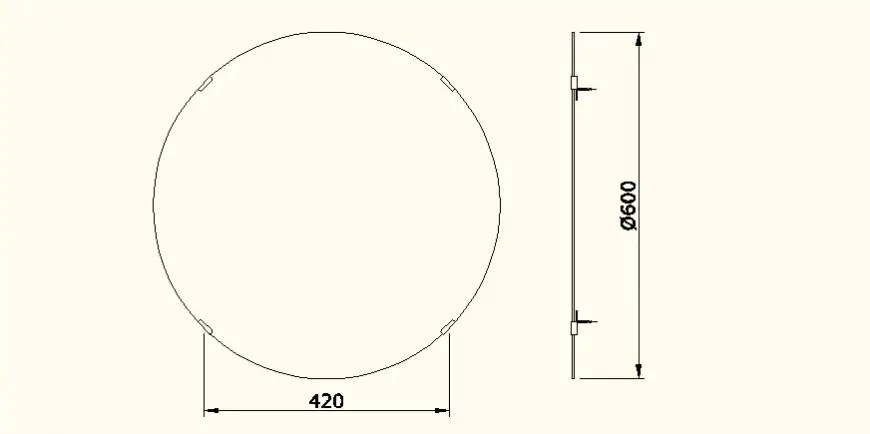 Circular system detail sanitary block detail elevation dwg