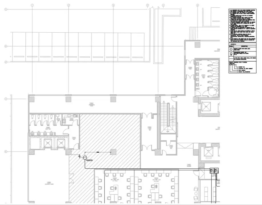 corporate Building Layout of wireless access point detail