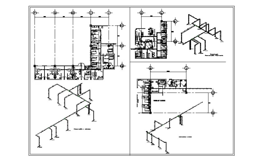 Doctor's room electrical installation isometric drawing in