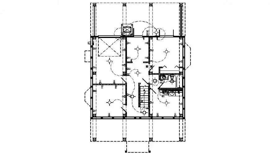 Drawings detail of electrical layout plan 2d view autocad