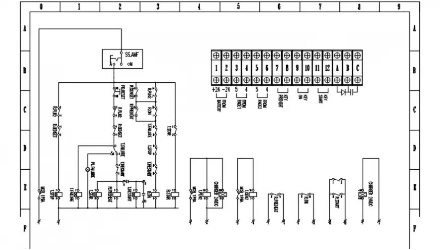 Electrical automation and riser diagram of Gambar wiring
