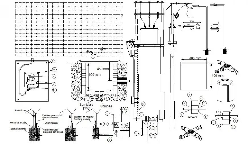 Electrical automation blocks drawing in autocad software
