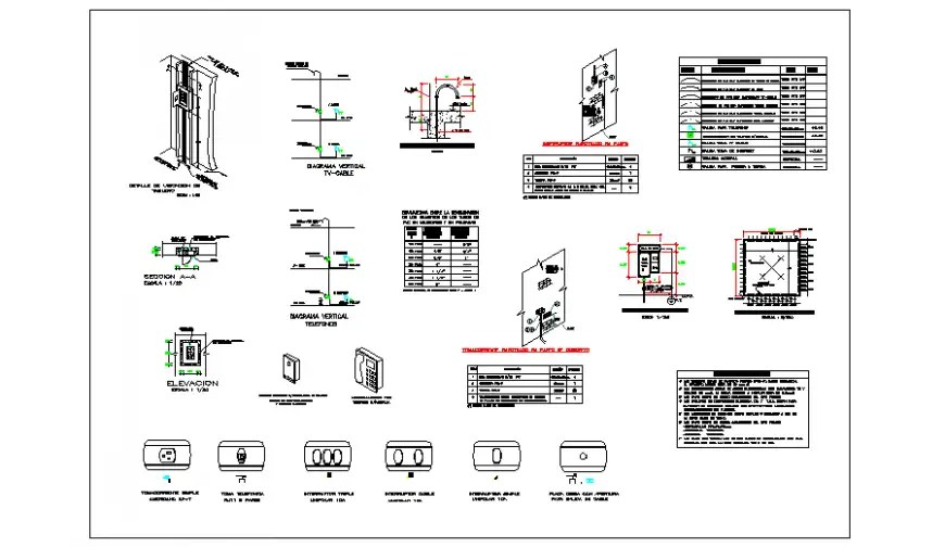 Electrical Detailing design drawing of small house drawing