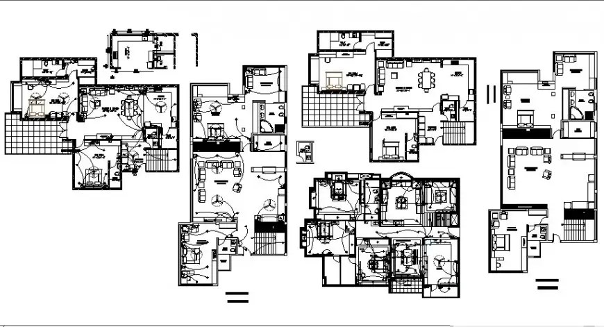 Electrical fittings and house plan 2d drawing in autocad