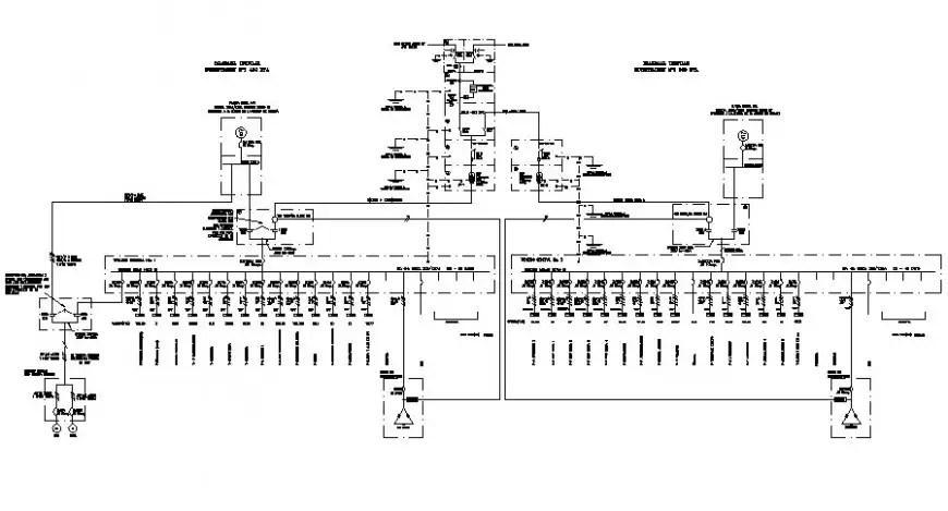 Electrical fuse circuits flow diagram details 2d view