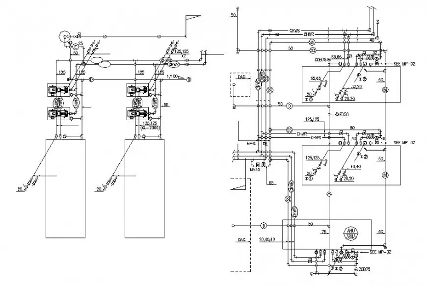 Electrical installation and riser diagram drawing details