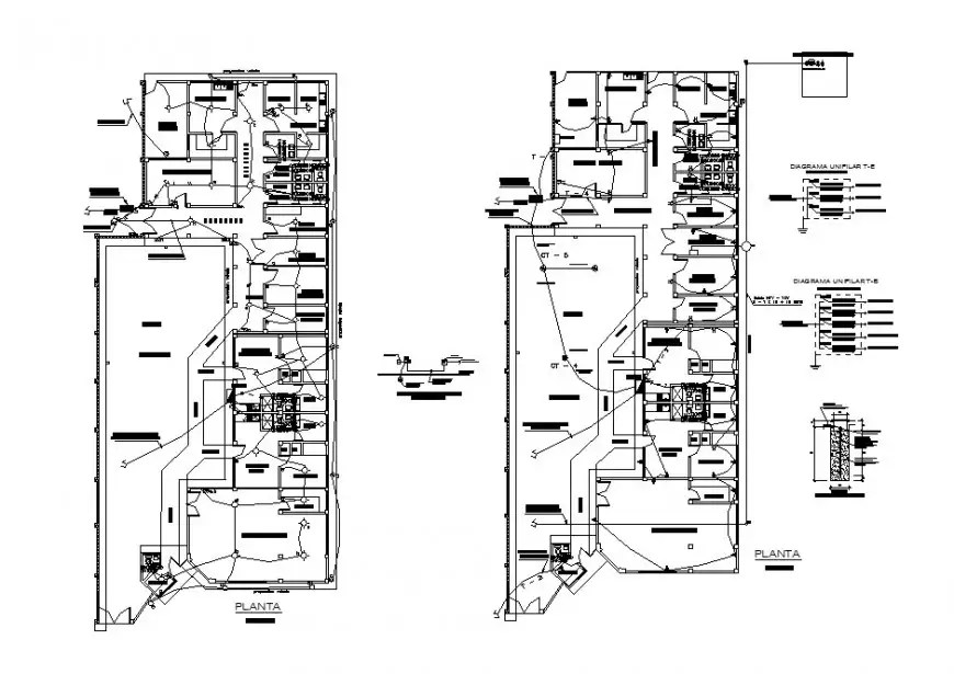 Electrical installation layout and floor plan details of