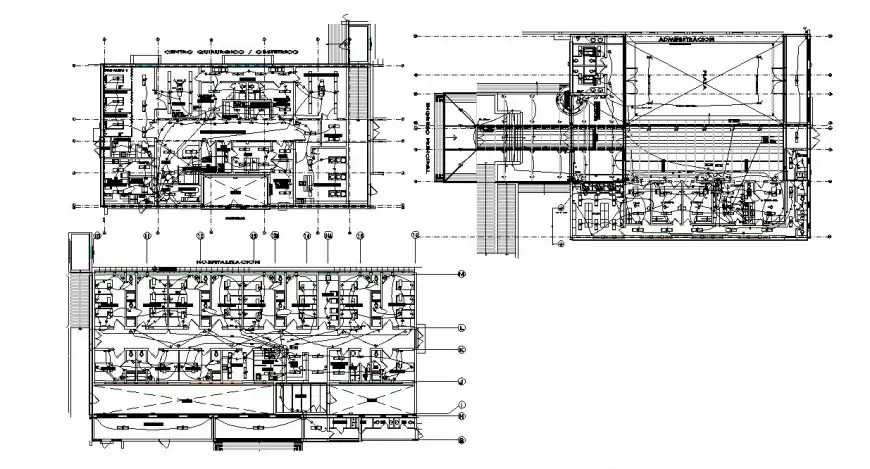 Electrical installation layout plan details for hospital