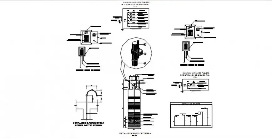 Electrical installation with riser diagram for one family