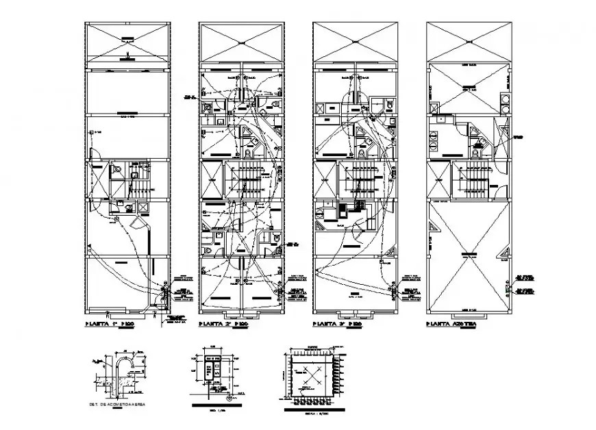 Electrical layout installation details of all floors of