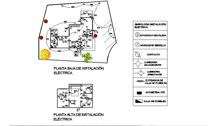 Electrical plan design simple house plans design drawing