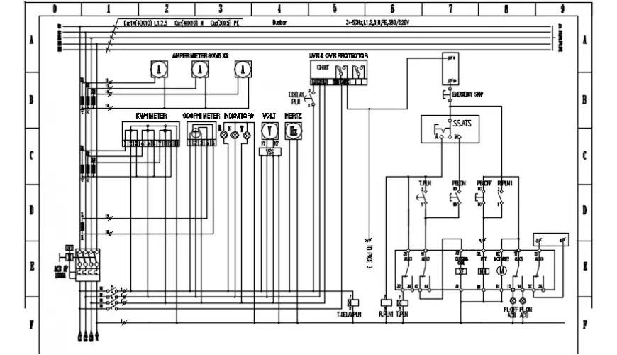 Gambar wiring genset pasar electric diagram details dwg