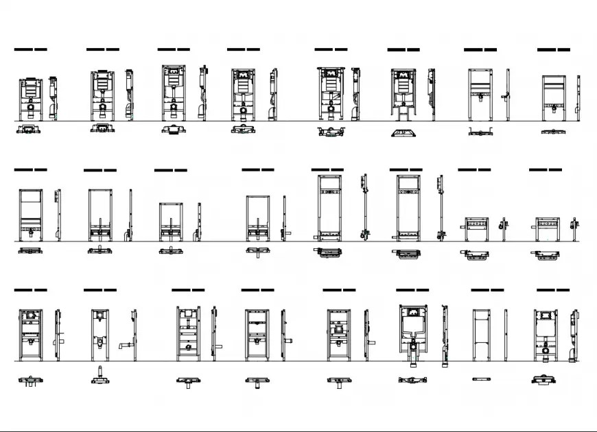 Geberit duo-fix electrical box symbols cad drawing details