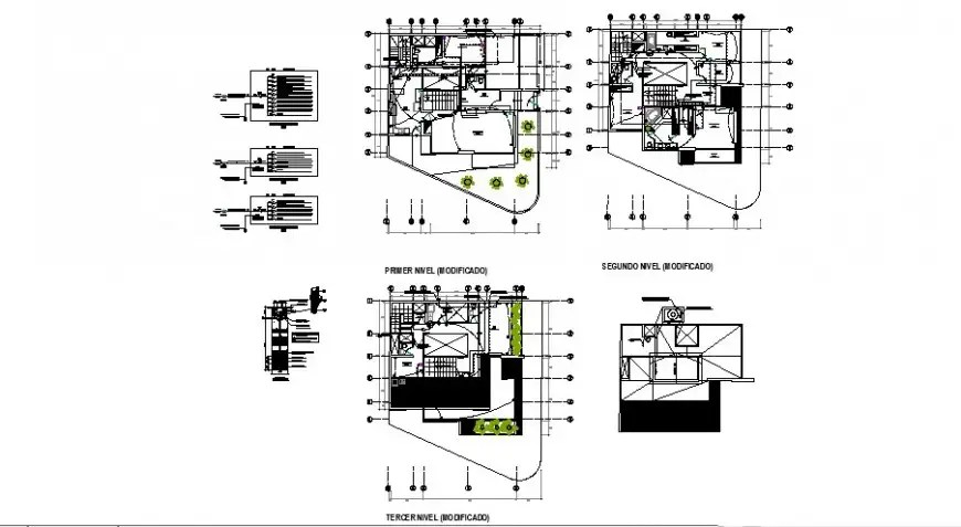 Housing drawing with electrical installation details in