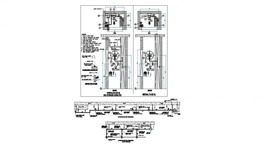 Internal FHC details with sprinkle and drainage cad