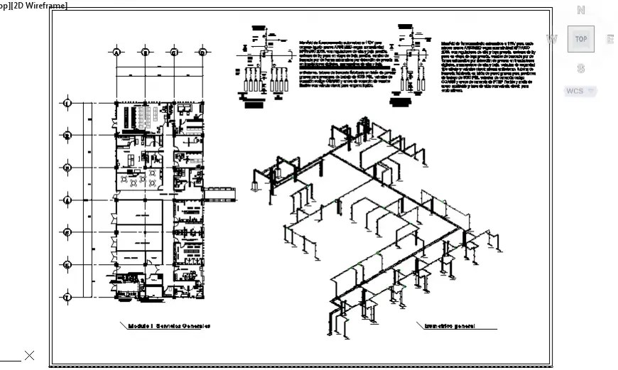 Isometric drawing of electrical installation general