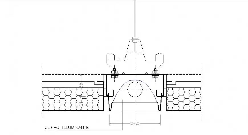 Lighting body electrical plan cad drawing details dwg file