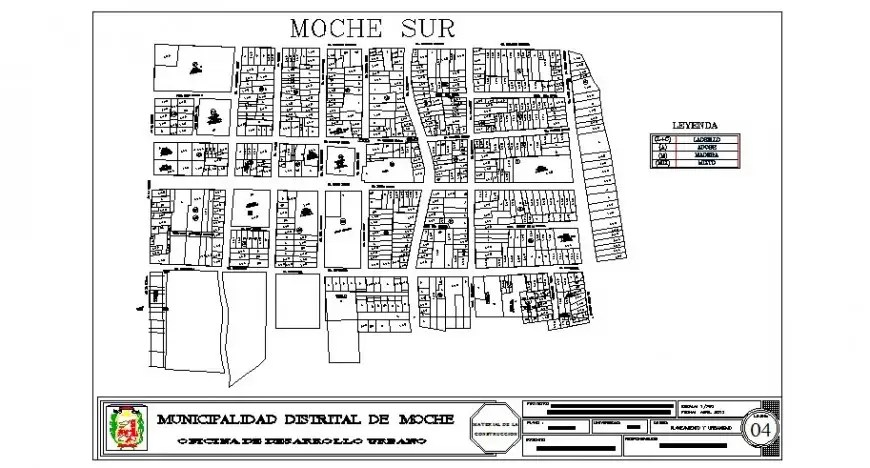Municipal urban development plan cad drawing details dwg
