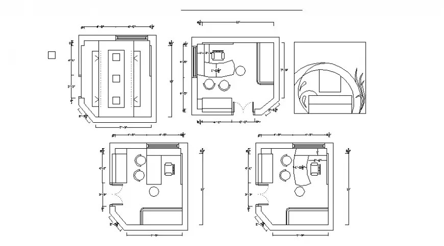 Office room plan drawings 2d view autocad software file