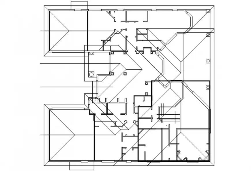 Old floor framing structure plan details of house dwg file
