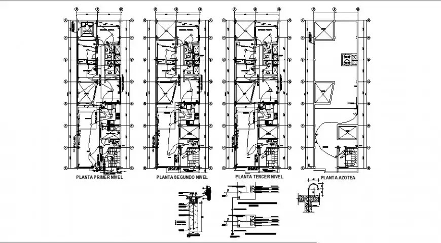 Residential apartment electrical installation plan detail