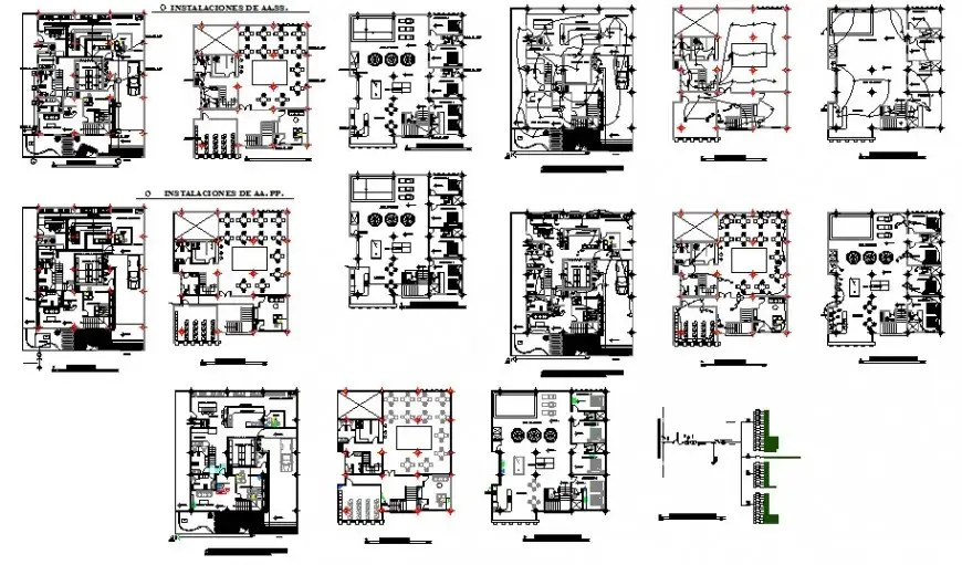 Restaurant electrical layout detail drawing in AutoCAD