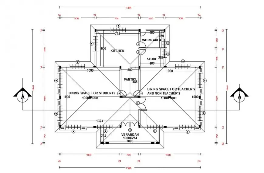 School building rooms details 2d view CAD drawings dwg