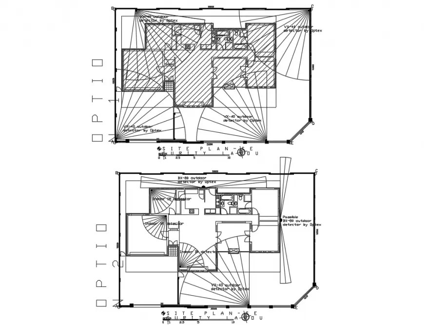 Site plan and security layout plan details of housing