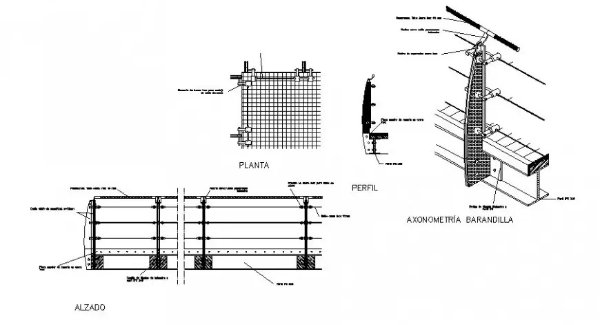 Structural units drawings detail 2d view autocad software