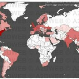 petya ransomware virus map