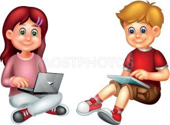 cute boy and girl cartoon s by sujono sujono Mostphotos