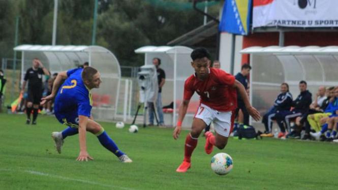 Duel Timnas Indonesia U-19 vs Bosnia-Herzegovina U-19.