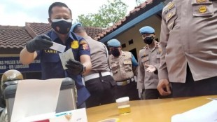 Police Commissioner Yuni Dewi Shabu Party, police from all over Bandung test urine