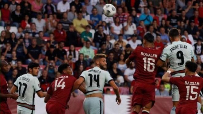 Pertandingan uji coba internasional antara Timnas Qatar vs Portugal.