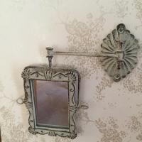 Shabby Chic GREY Swivel Wall Mirror Swing Arm Vintage ...