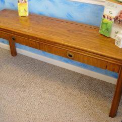 Drexel Sofa Table Teak Wood Set Designs Bangalore Pecan Tables Furniture Zeppy Io
