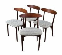 Set 4 Vintage Mid Century Danish Modern Dining Chairs by ...