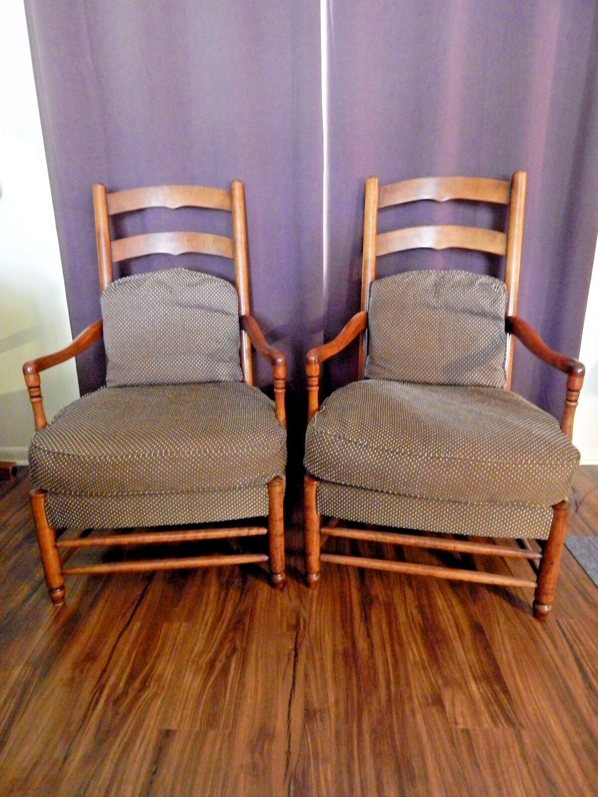 hickory chair co tan leather dining room chairs vintage pair of 39american digest