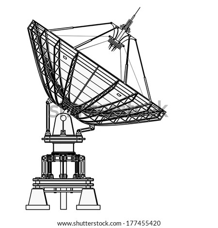 Satellite Dish Dishshaped Type Parabolic Antenna Stock