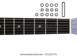 Guitar Chords Diagrams Diy Empty Guitar Stock Photo