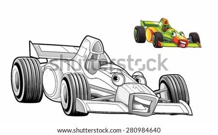 Racing Car Formula 1 Front Back Stock Vector 331608548