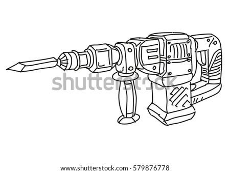 Hammer Mechanical Drawing Stockbilder und Bilder und