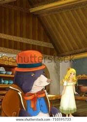 mole cartoon tale scene kitchen fairy tiny illustration children shutterstock hand