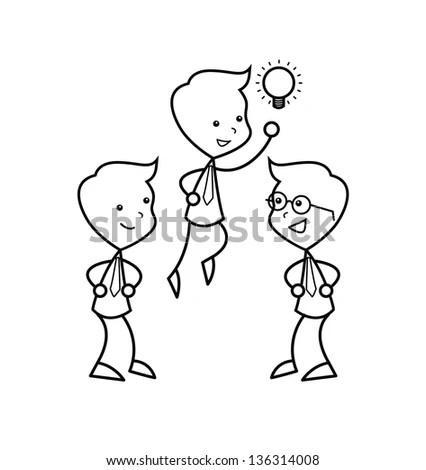 Set Isolated Couple Cartoon Ideal Funny Stock Vector