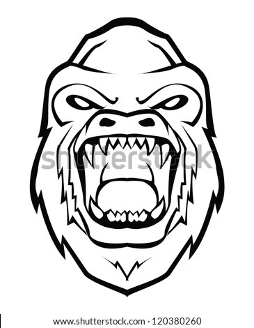 Angry Gorilla Stock Photos, Royalty-Free Images & Vectors
